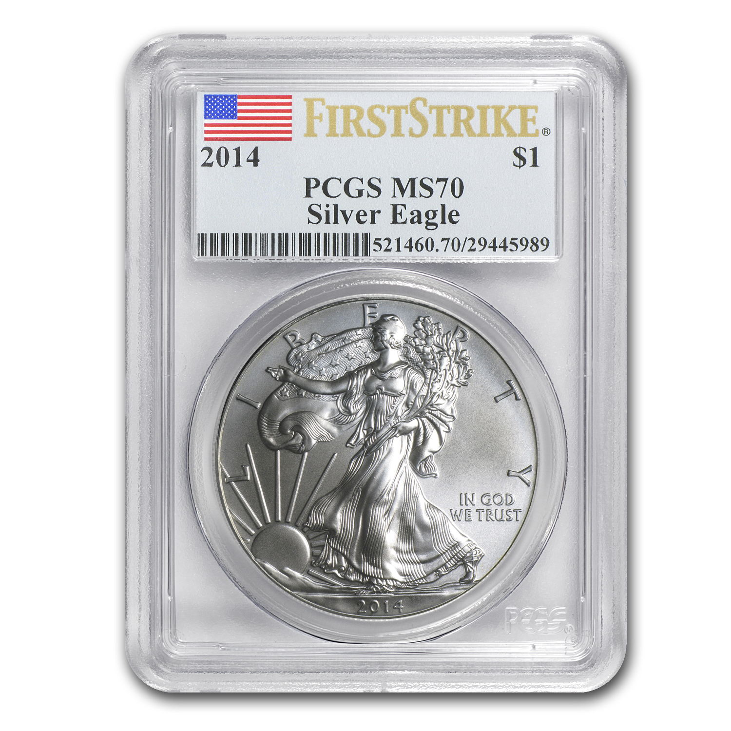 2014 Silver American Eagle MS-70 PCGS (First Strike)